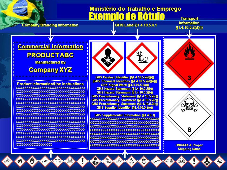 Exemplo de Rótulo PRODUCT ABC Company XYZ