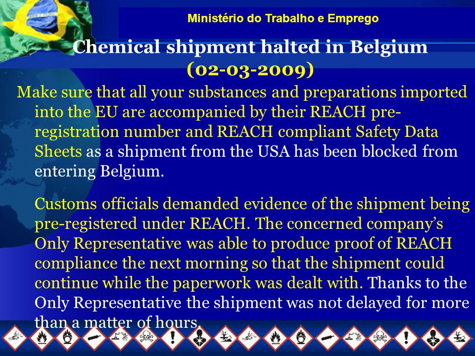 Chemical shipment halted in Belgium (02-03-2009)