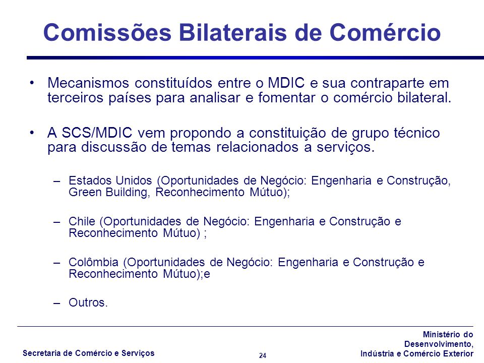 Comissões Bilaterais de Comércio