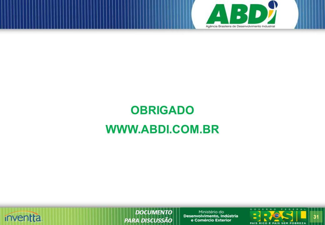 OBRIGADO WWW.ABDI.COM.BR