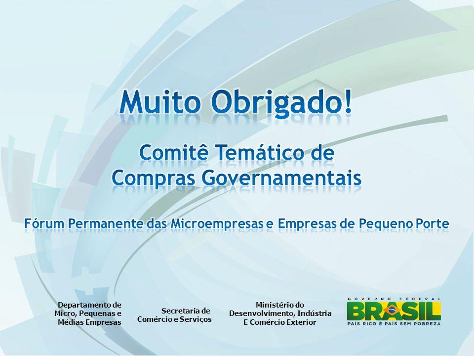 Muito Obrigado! Comitê Temático de Compras Governamentais