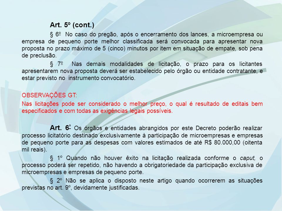 Art. 5º (cont.)