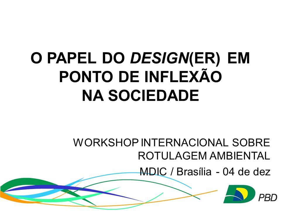 O PAPEL DO DESIGN(ER) EM PONTO DE INFLEXÃO NA SOCIEDADE