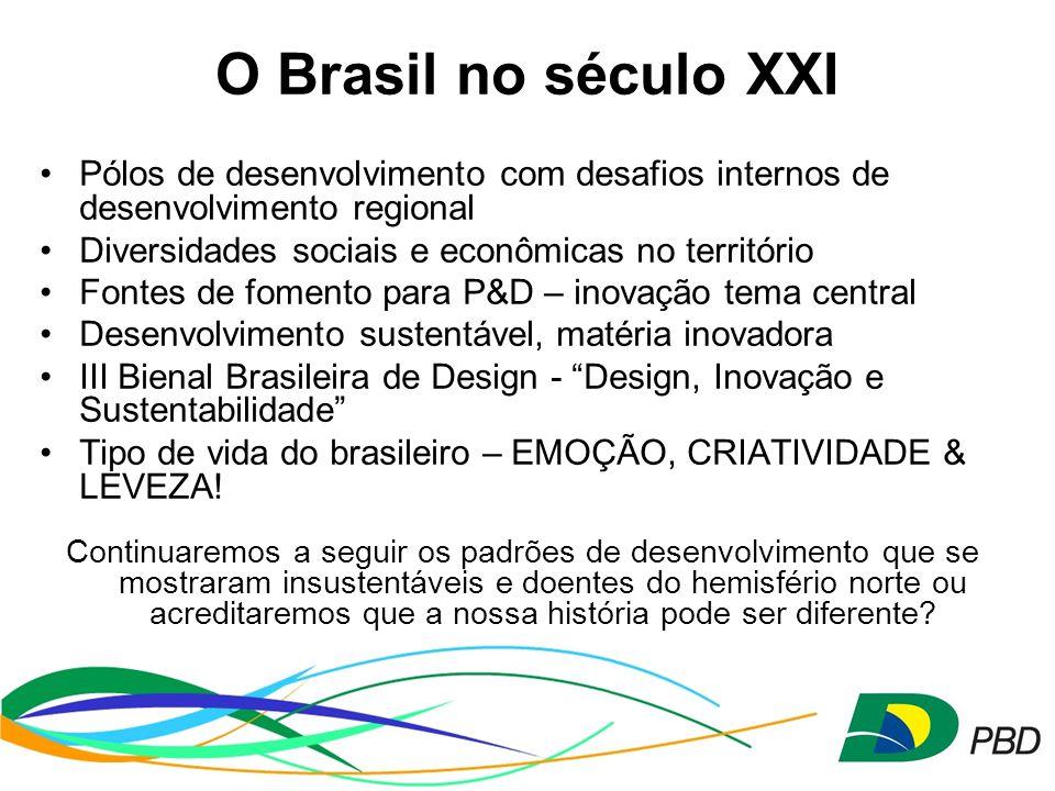O Brasil no século XXI Pólos de desenvolvimento com desafios internos de desenvolvimento regional. Diversidades sociais e econômicas no território.