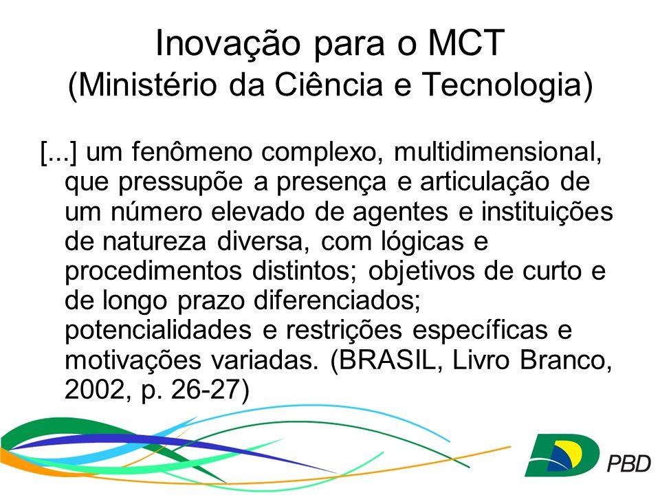 Inovação para o MCT (Ministério da Ciência e Tecnologia)