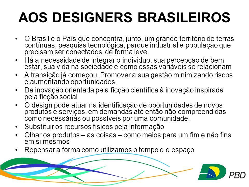 AOS DESIGNERS BRASILEIROS