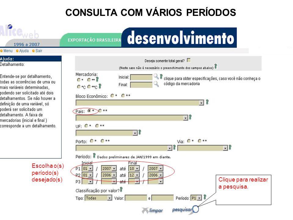 CONSULTA COM VÁRIOS PERÍODOS