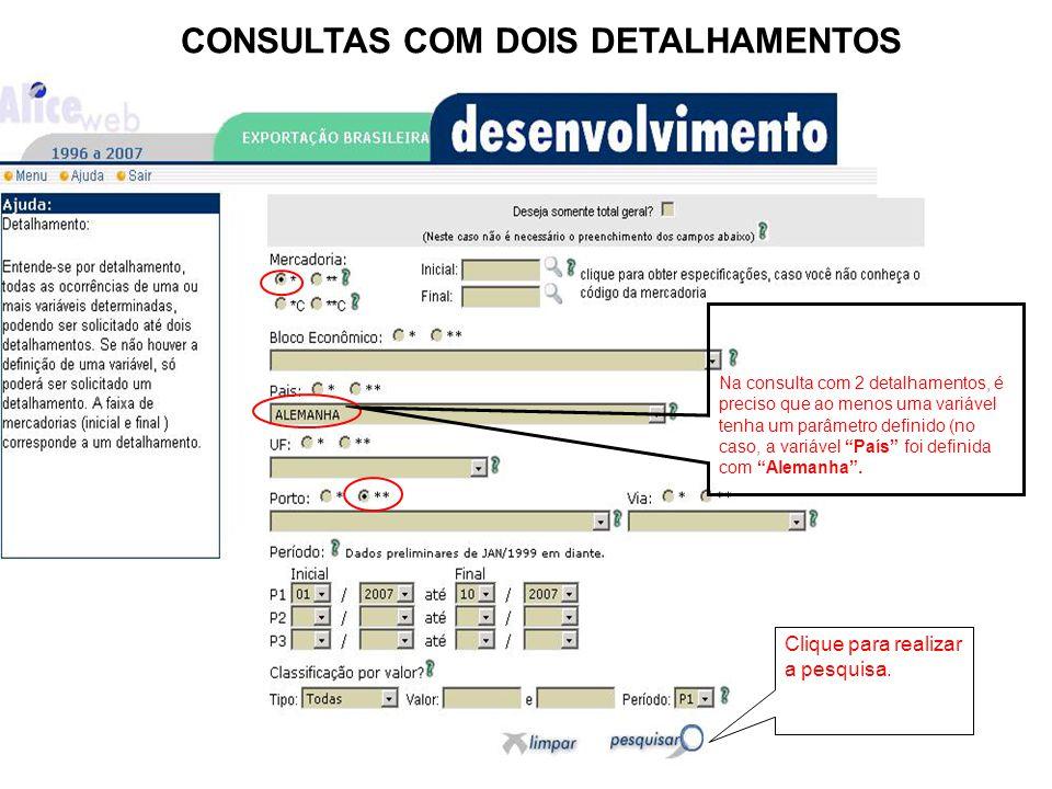 CONSULTAS COM DOIS DETALHAMENTOS