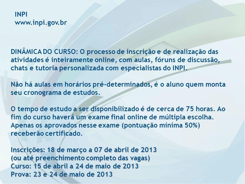 INPI www.inpi.gov.br.