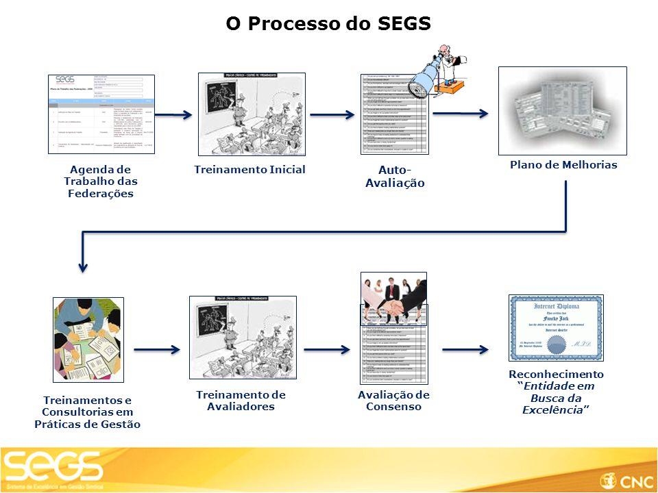 O Processo do SEGS Auto-Avaliação Plano de Melhorias