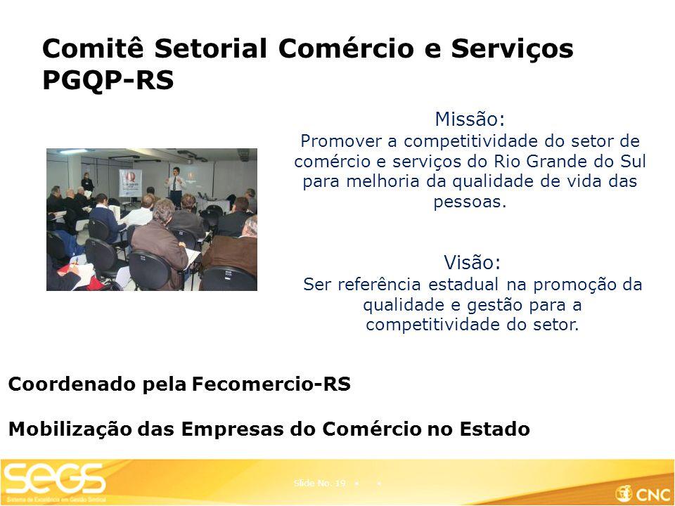 Comitê Setorial Comércio e Serviços PGQP-RS