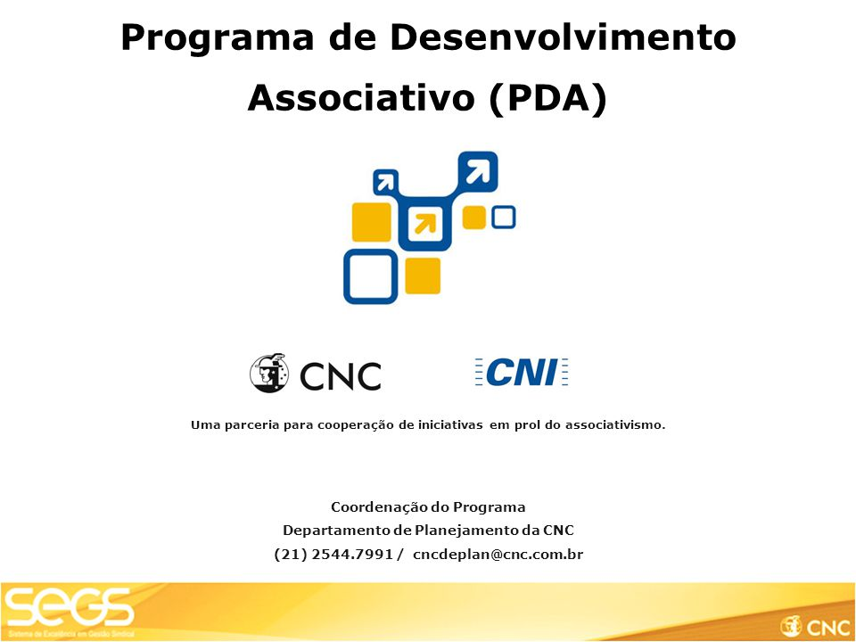 Programa de Desenvolvimento Associativo (PDA)