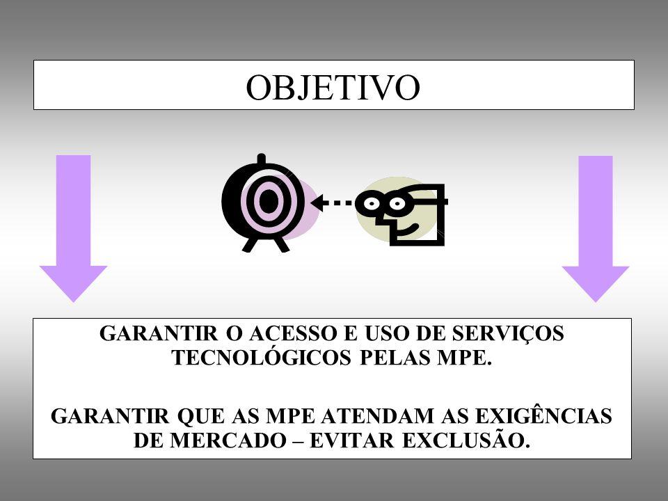 GARANTIR O ACESSO E USO DE SERVIÇOS TECNOLÓGICOS PELAS MPE.