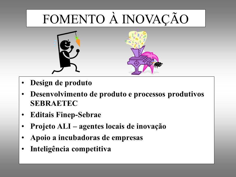 FOMENTO À INOVAÇÃO Design de produto