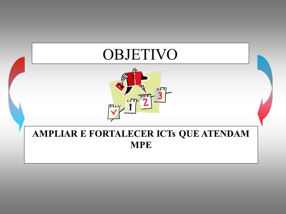 AMPLIAR E FORTALECER ICTs QUE ATENDAM MPE
