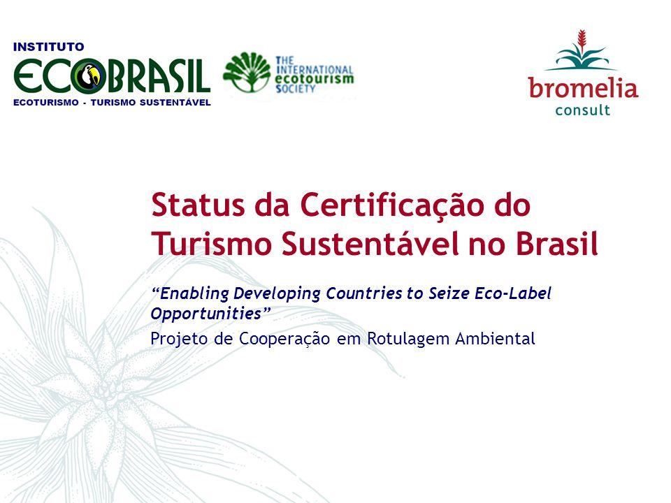 Status da Certificação do Turismo Sustentável no Brasil