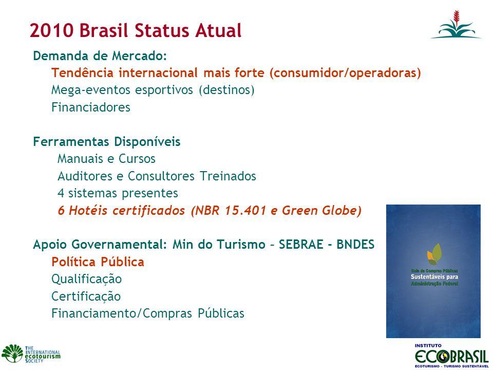 2010 Brasil Status Atual Demanda de Mercado: