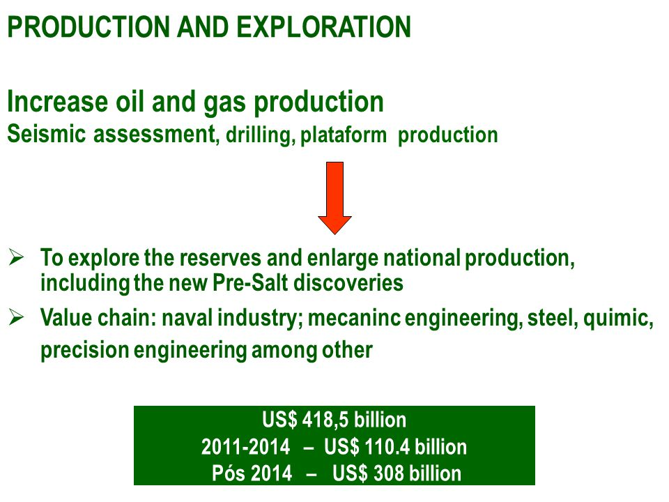 Increase oil and gas production