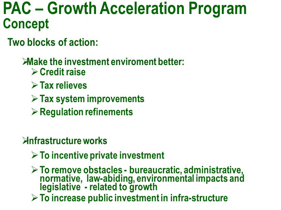 Growth Acceleration Program – Concept