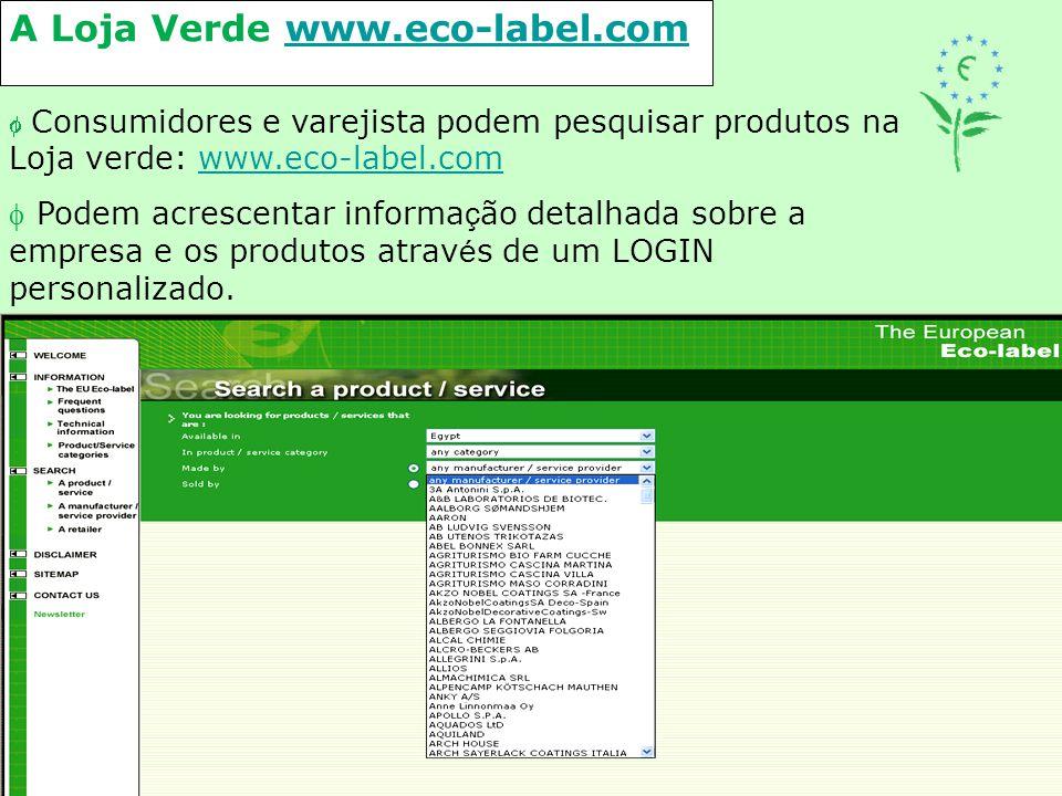 A Loja Verde www.eco-label.com