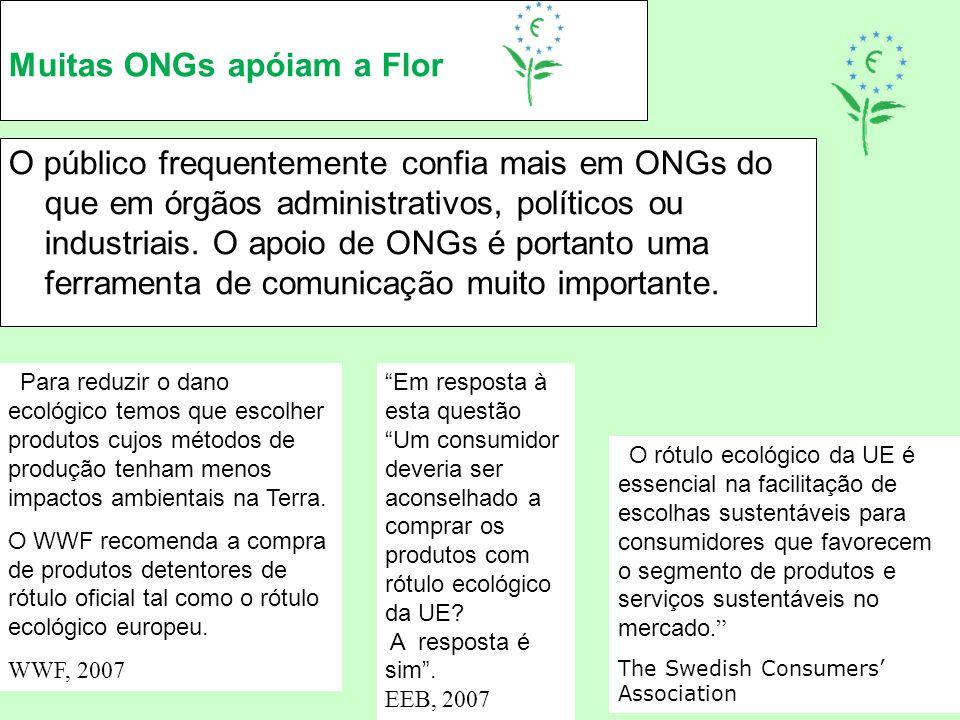 Muitas ONGs apóiam a Flor