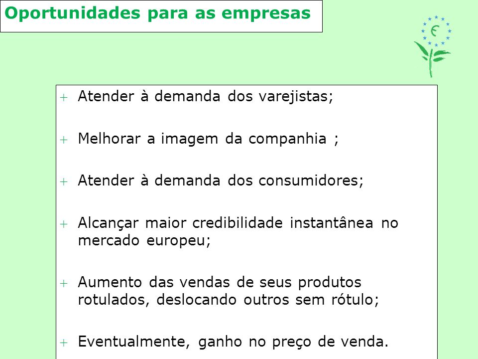Oportunidades para as empresas