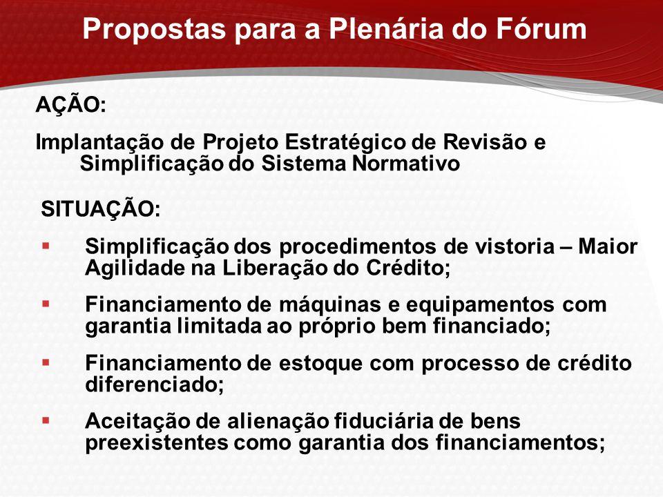 Propostas para a Plenária do Fórum