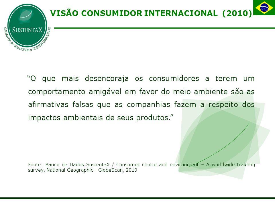 VISÃO CONSUMIDOR INTERNACIONAL (2010)