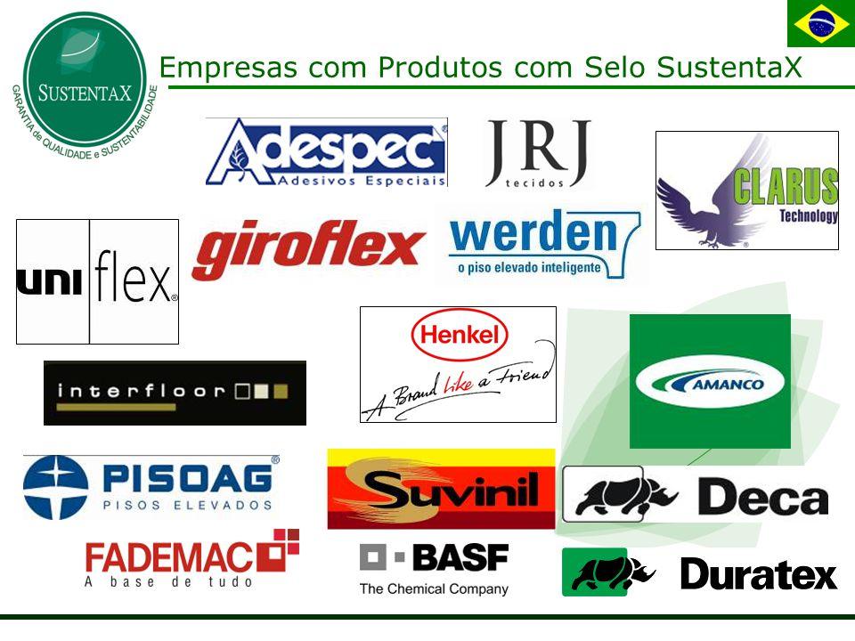 Empresas com Produtos com Selo SustentaX