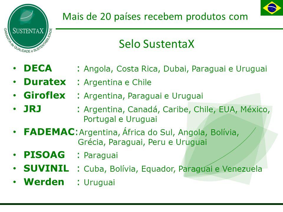 Mais de 20 países recebem produtos com Selo SustentaX