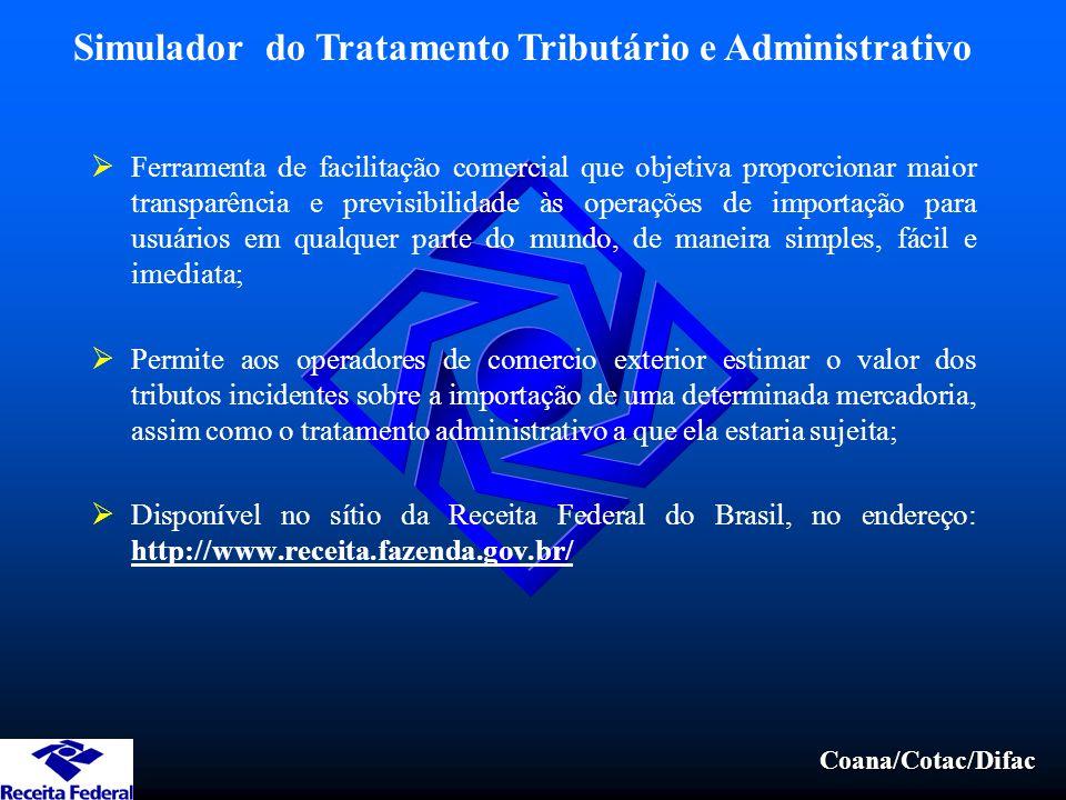 Simulador do Tratamento Tributário e Administrativo