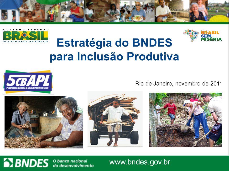 Estratégia do BNDES para Inclusão Produtiva