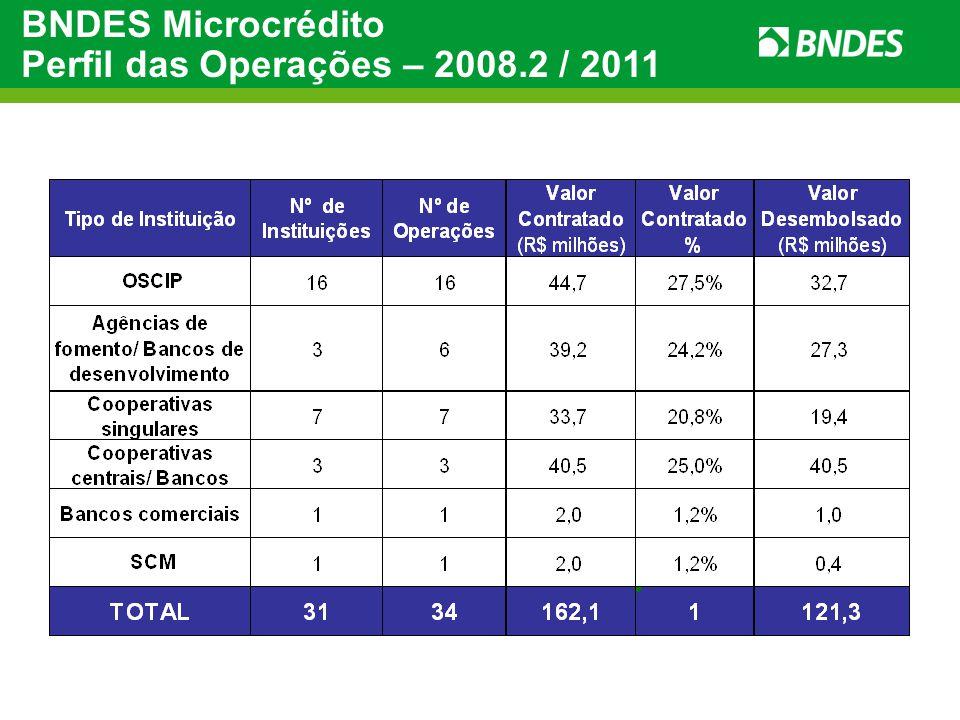 BNDES Microcrédito Perfil das Operações – 2008.2 / 2011