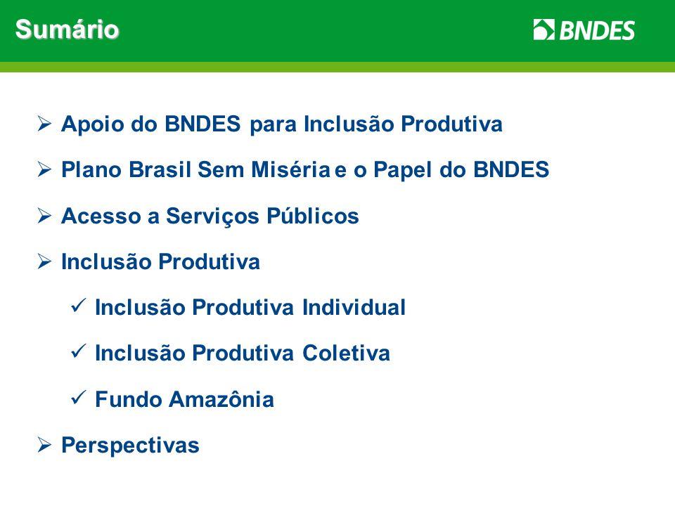 Sumário Apoio do BNDES para Inclusão Produtiva