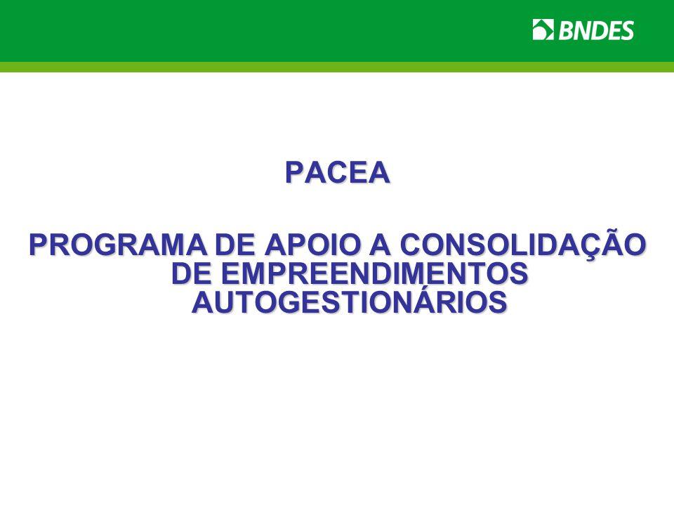 PROGRAMA DE APOIO A CONSOLIDAÇÃO DE EMPREENDIMENTOS AUTOGESTIONÁRIOS