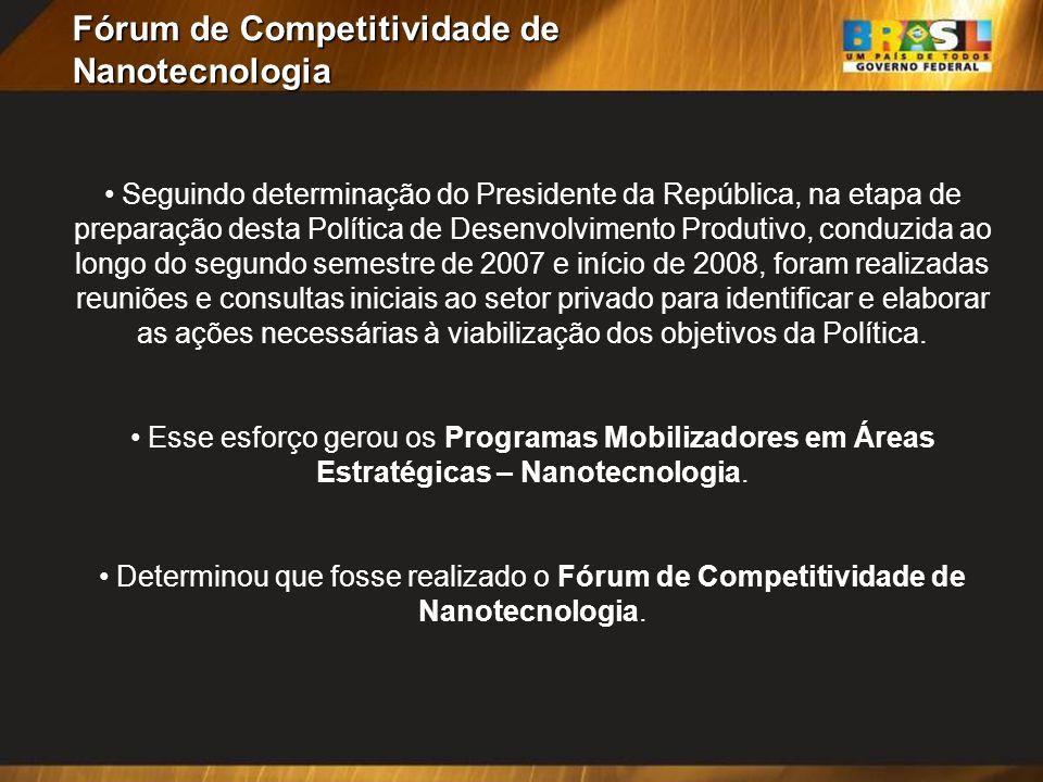 Fórum de Competitividade de Nanotecnologia