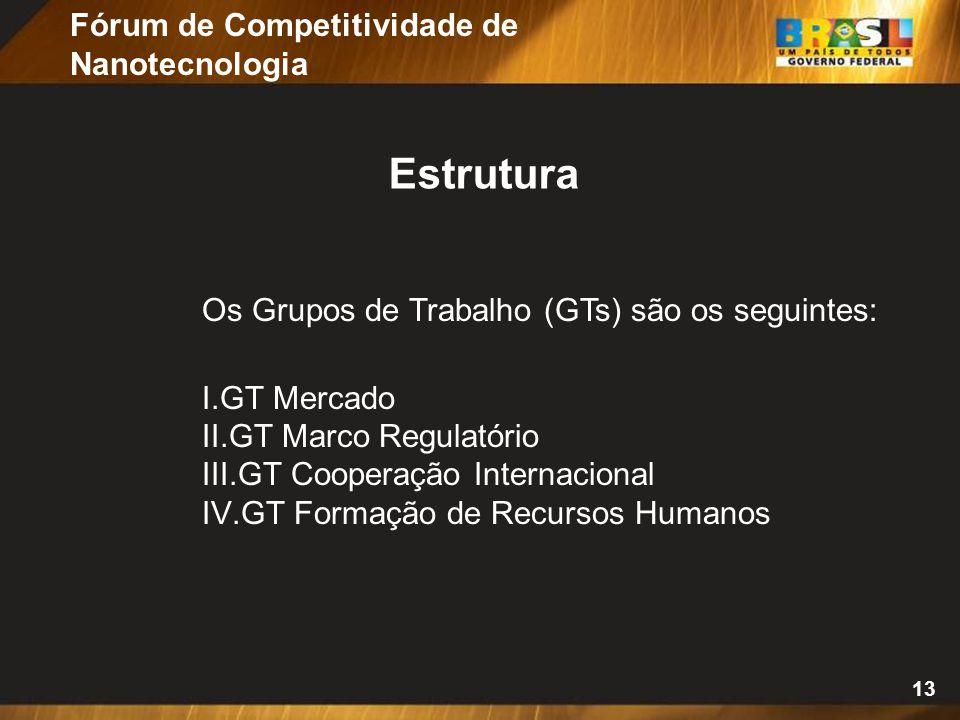 Estrutura Fórum de Competitividade de Nanotecnologia