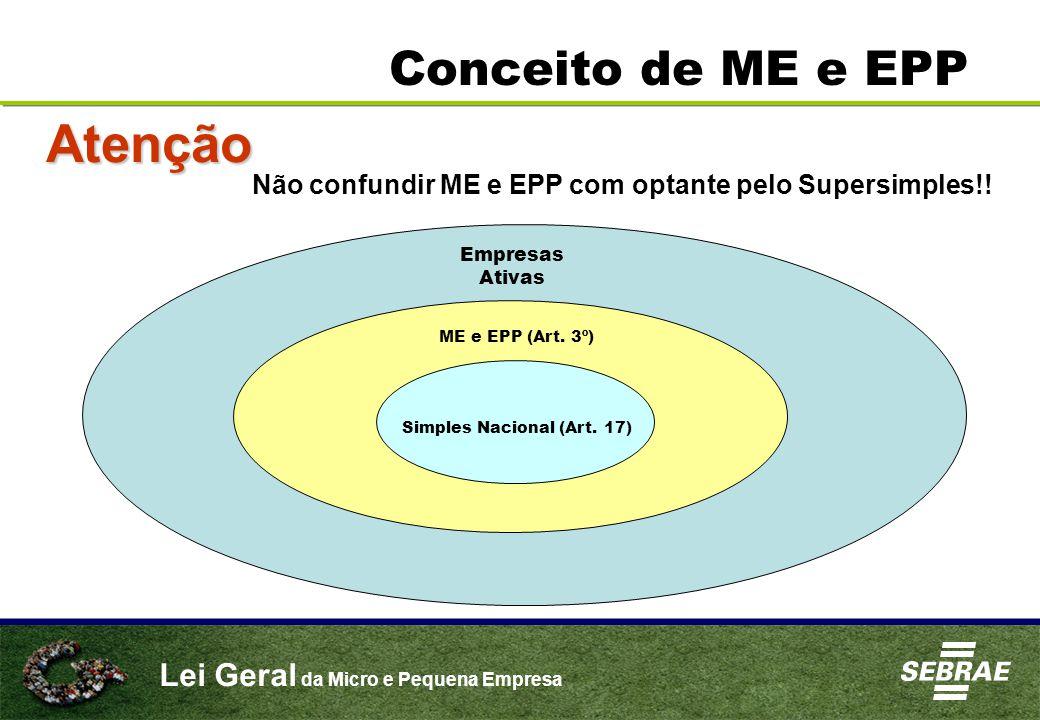 Simples Nacional (Art. 17)