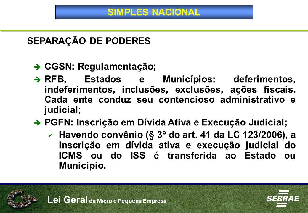 CGSN: Regulamentação;