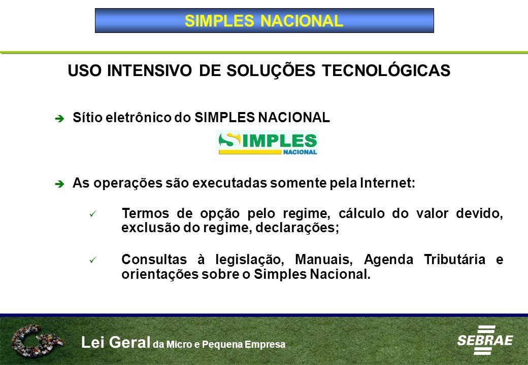 USO INTENSIVO DE SOLUÇÕES TECNOLÓGICAS