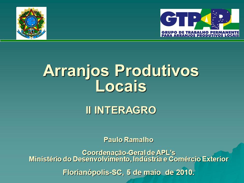 Arranjos Produtivos Locais II INTERAGRO