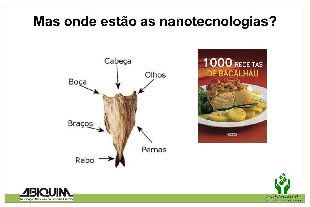 Mas onde estão as nanotecnologias