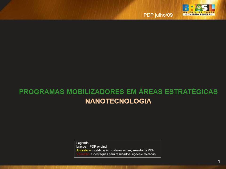 PROGRAMAS MOBILIZADORES EM ÁREAS ESTRATÉGICAS