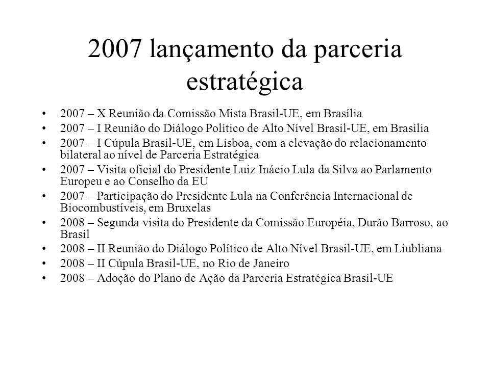 2007 lançamento da parceria estratégica