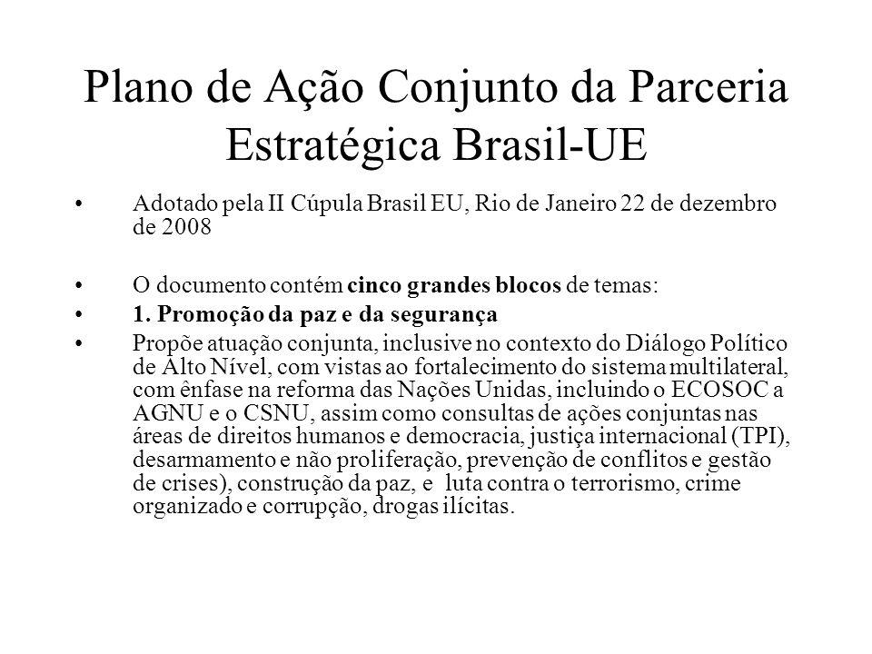 Plano de Ação Conjunto da Parceria Estratégica Brasil-UE