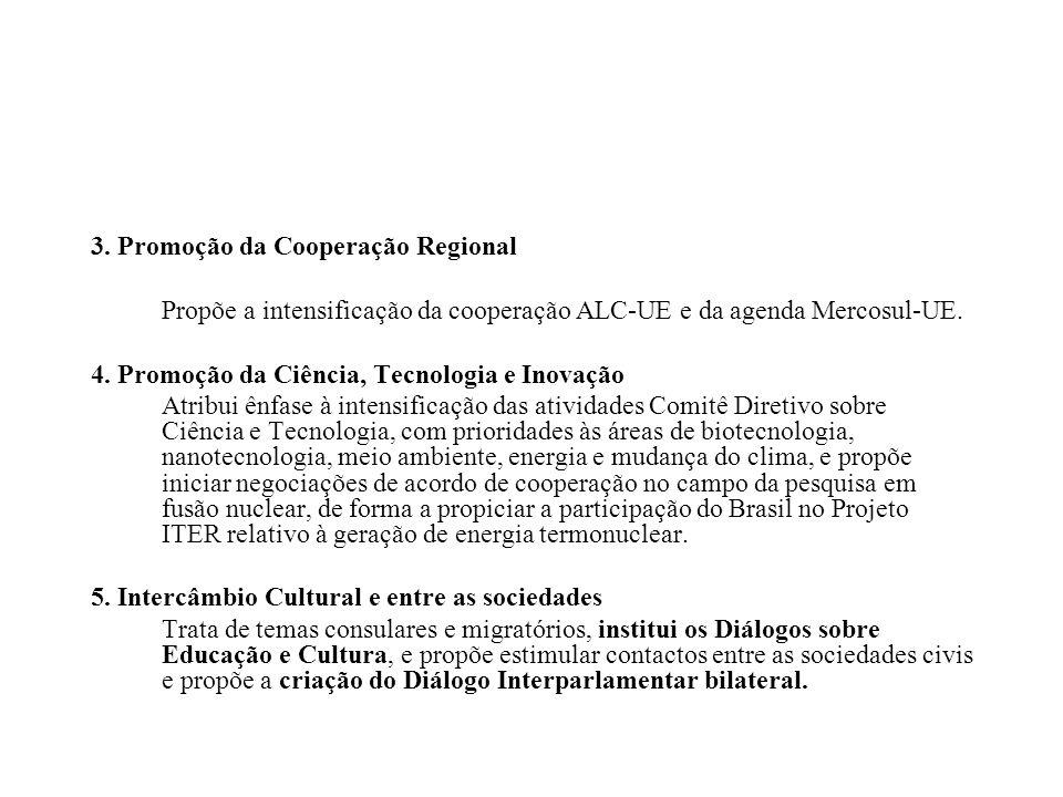 3. Promoção da Cooperação Regional