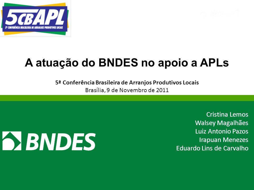 A atuação do BNDES no apoio a APLs