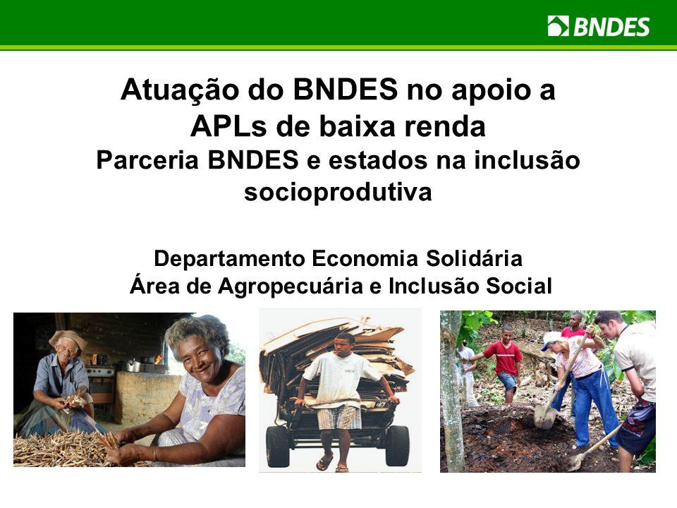 Departamento Economia Solidária Área de Agropecuária e Inclusão Social