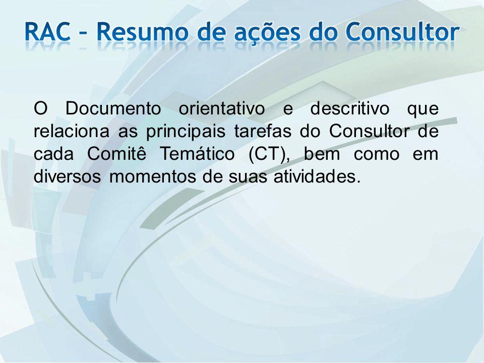 RAC – Resumo de ações do Consultor