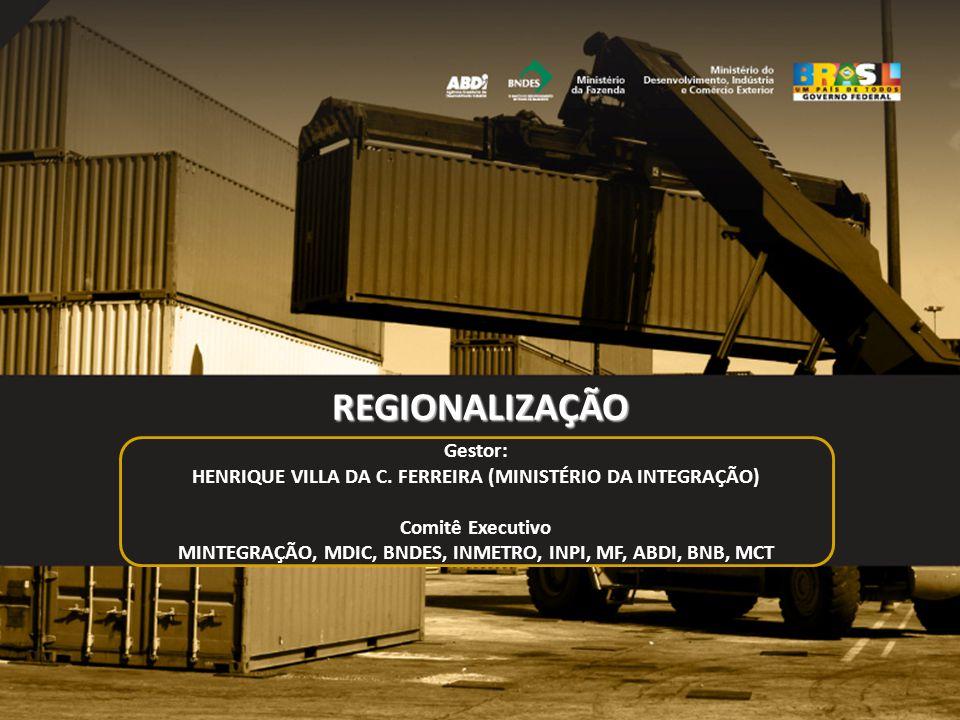 REGIONALIZAÇÃO Gestor: